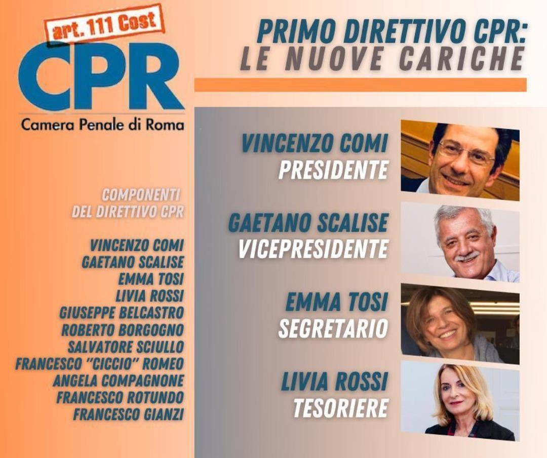 L'Avvocata e Socia Emma Tosi eletta nel nuovo Direttivo della Camera Penale di Roma
